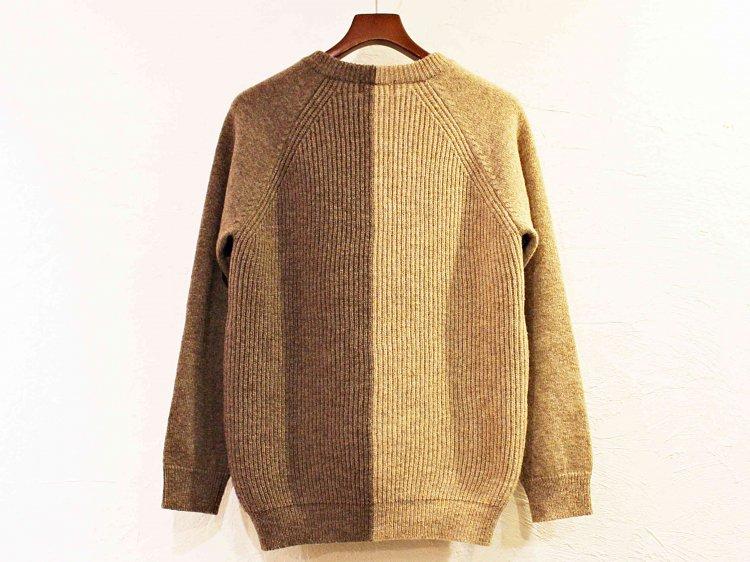 soglia ソリア / LERWICK Sweater ラーウィックセーター (BEIGE×BROWN / ベージュブラウン)