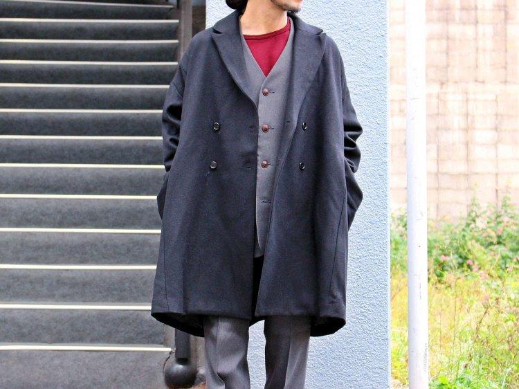 BASISBROEK バージスブルック / EGG  ダブルオーバーコート (BLACK / ブラック)