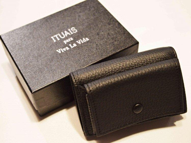 ITUAIS イトゥアイス / COMPACT WALLET コンパクトウォレット (NOIR / BLACK ブラック)