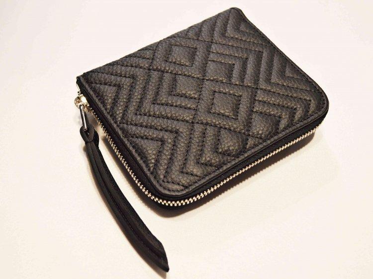 ITUAIS イトゥアイス / Wallet 【Diamond】 ジップウォレット (NOIR / BLACK ブラック)