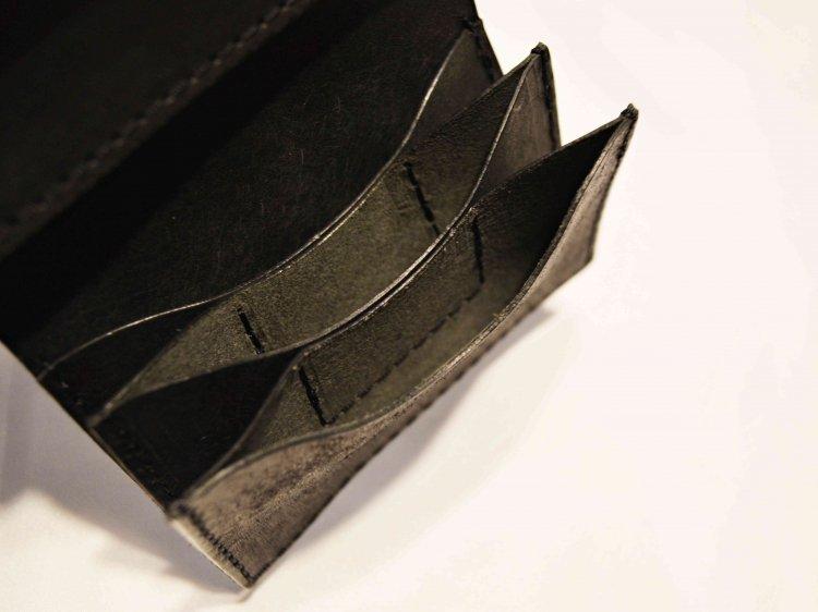 saranam サラナン / 三つ折りサイフ (BLACK ブラック)