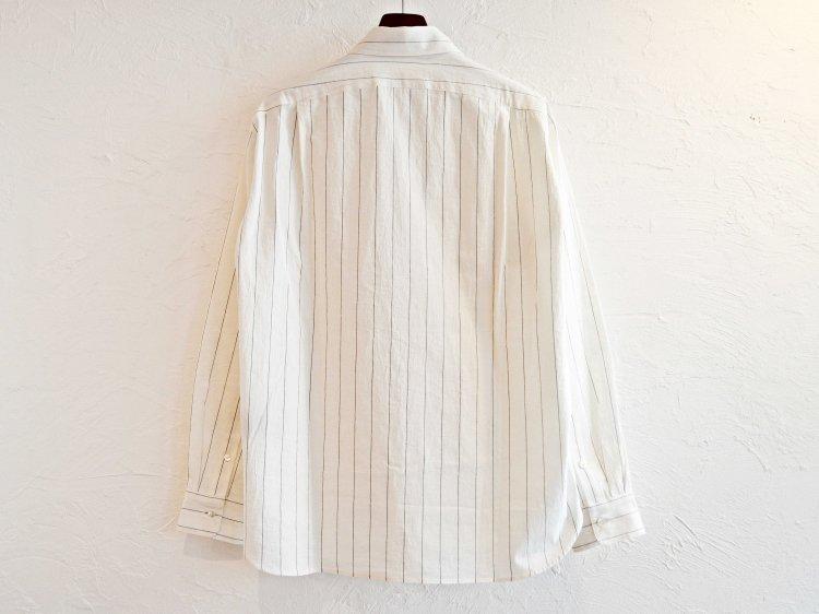 LAMOND ラモンド / COMFORTABLE STRIPE SHIRT ストライプシャツ (WHITE ホワイト)