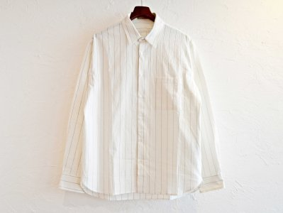 LAMOND ラモンド / COMFORTABLE STRIPE SHIRT ストライプシャツ (WHITE ホワイト)<img class='new_mark_img2' src='https://img.shop-pro.jp/img/new/icons1.gif' style='border:none;display:inline;margin:0px;padding:0px;width:auto;' />