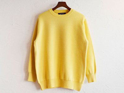 RoToTo ロトト/ HONEYCOMB KNIT ハニカムニット (LIGHT YELLOW ライトイエロー)<img class='new_mark_img2' src='https://img.shop-pro.jp/img/new/icons1.gif' style='border:none;display:inline;margin:0px;padding:0px;width:auto;' />