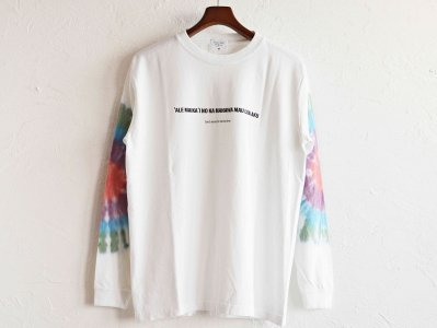 SALVAGE PUBLIC サルベージパブリック / GOOD WAVES TIE DYE LONG SLEEVE グットウェーブスタイダイロングスリーブ (WHITE ホワイト)<img class='new_mark_img2' src='https://img.shop-pro.jp/img/new/icons1.gif' style='border:none;display:inline;margin:0px;padding:0px;width:auto;' />