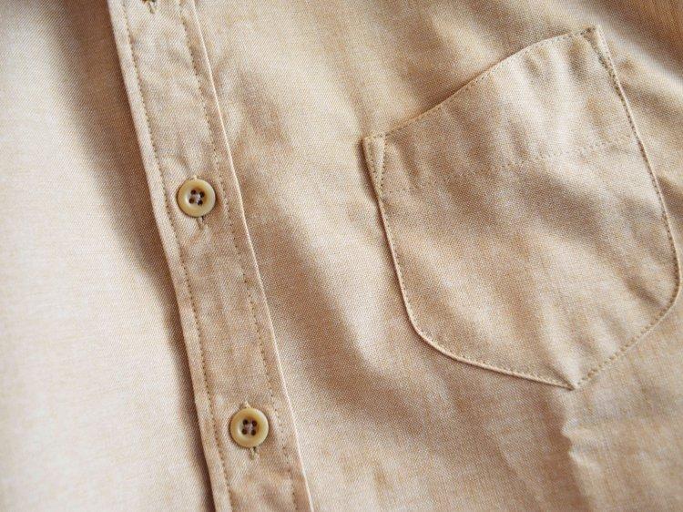 SHARKEY'S シャーキーズ / ROYAL OXFORD BD SHIRT ロイヤルオックスフォードボタンダウンシャツ (BEIGE ベージュ)