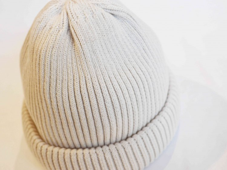 RoToTo ロトト / COTTON ROLL UP BEANIE コットンロール ビーニー (IVORY アイボリー)<img class='new_mark_img2' src='https://img.shop-pro.jp/img/new/icons1.gif' style='border:none;display:inline;margin:0px;padding:0px;width:auto;' />
