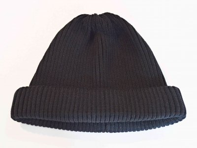 RoToTo ロトト / COTTON ROLL UP BEANIE コットンロール ビーニー (BLACK ブラック)<img class='new_mark_img2' src='https://img.shop-pro.jp/img/new/icons1.gif' style='border:none;display:inline;margin:0px;padding:0px;width:auto;' />
