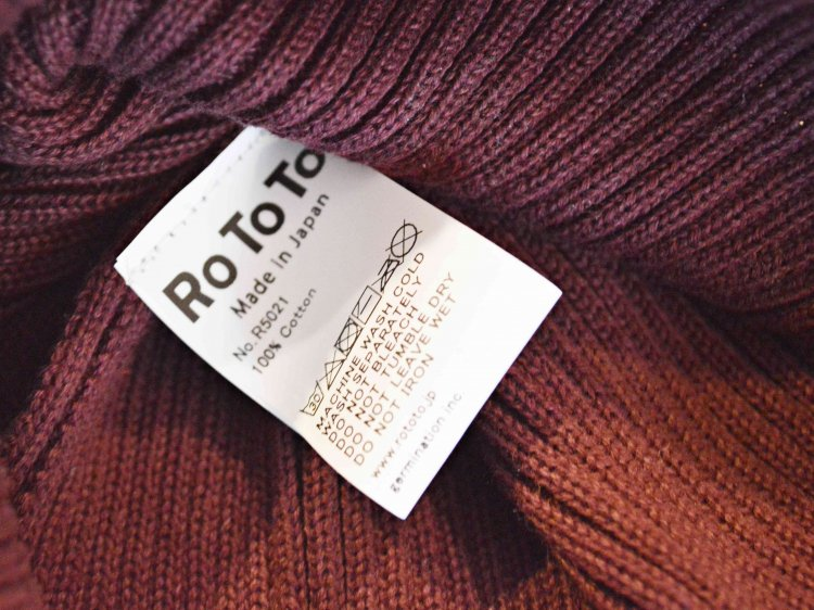 RoToTo ロトト / COTTON ROLL UP BEANIE コットンロール ビーニー (BURGUNDY バーガンディー)<img class='new_mark_img2' src='https://img.shop-pro.jp/img/new/icons1.gif' style='border:none;display:inline;margin:0px;padding:0px;width:auto;' />