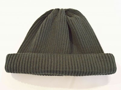 RoToTo ロトト / COTTON ROLL UP BEANIE コットンロール ビーニー (D.GREEN ダークグリーン)<img class='new_mark_img2' src='https://img.shop-pro.jp/img/new/icons1.gif' style='border:none;display:inline;margin:0px;padding:0px;width:auto;' />