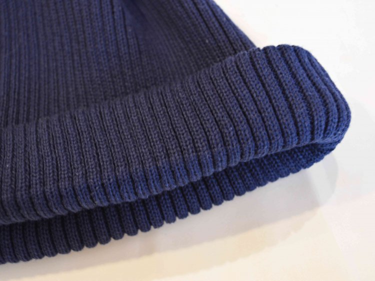 RoToTo ロトト / COTTON ROLL UP BEANIE コットンロール ビーニー (NAVY ネイビー)<img class='new_mark_img2' src='https://img.shop-pro.jp/img/new/icons1.gif' style='border:none;display:inline;margin:0px;padding:0px;width:auto;' />