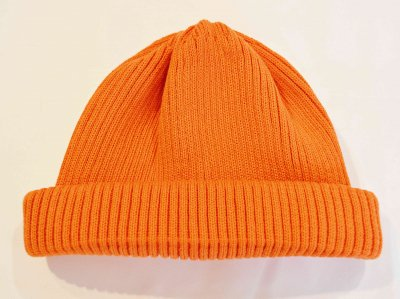 RoToTo ロトト / COTTON ROLL UP BEANIE コットンロール ビーニー (ORANGE オレンジ)<img class='new_mark_img2' src='https://img.shop-pro.jp/img/new/icons1.gif' style='border:none;display:inline;margin:0px;padding:0px;width:auto;' />