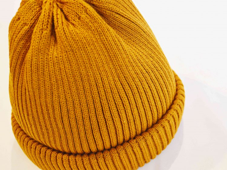 RoToTo ロトト / COTTON ROLL UP BEANIE コットンロール ビーニー (YELLOW イエロー)<img class='new_mark_img2' src='https://img.shop-pro.jp/img/new/icons1.gif' style='border:none;display:inline;margin:0px;padding:0px;width:auto;' />