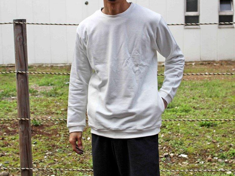 SPINNER BAIT スピナーベイト / ミニ裏毛リブクルー (WHITE ホワイト)