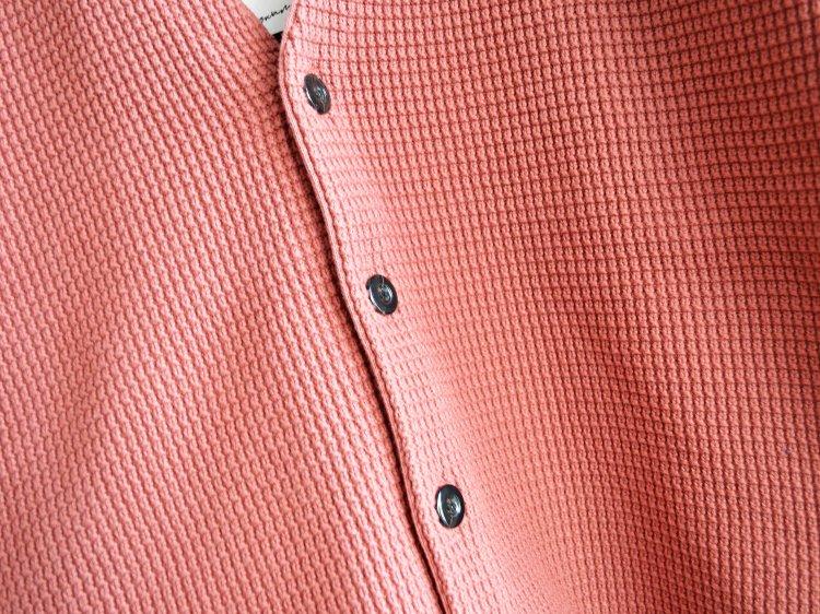 Nasngwam. ナスングワム / SHED CARDIGAN コットンニットカーディガン (PINK ピンク)