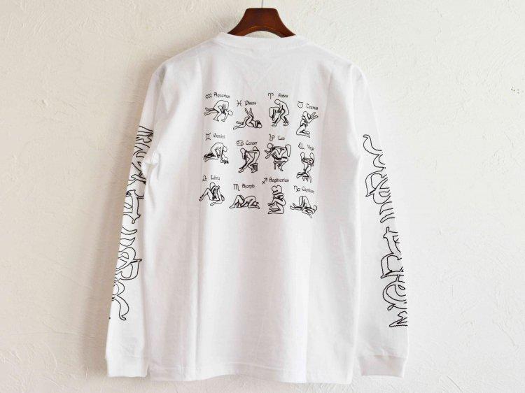 ZODIAC ゾディアック / PRINT L/S TEE ロングスリーブTシャツ  (WHITE ホワイト)