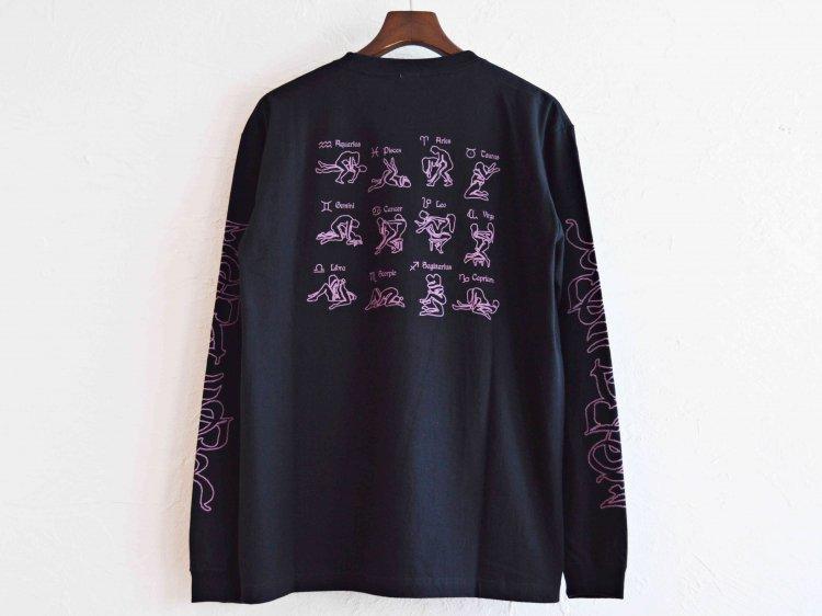 ZODIAC ゾディアック / PRINT L/S TEE ロングスリーブTシャツ  (BLACK ブラック)