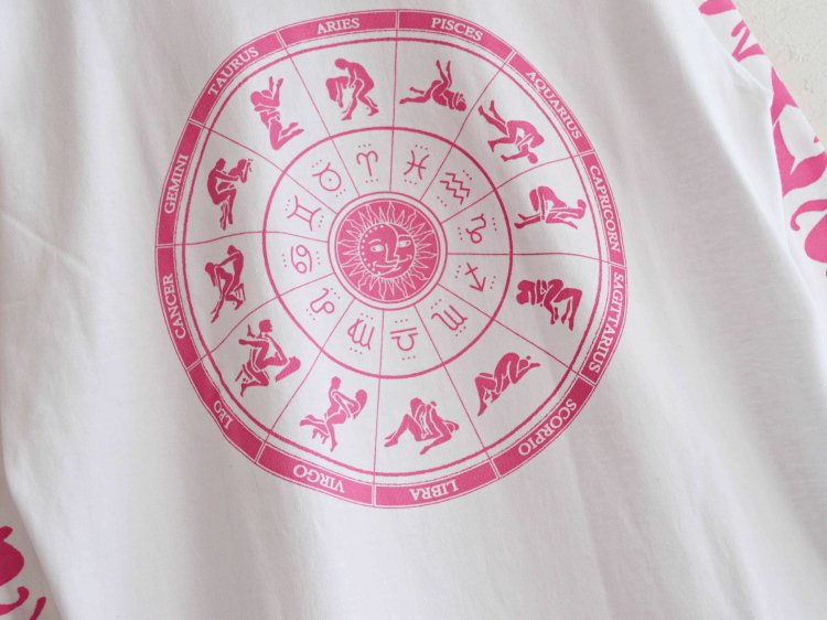 ZODIAC ゾディアック / PRINT L/S TEE ロングスリーブTシャツ  (WHITE ホワイト)<img class='new_mark_img2' src='https://img.shop-pro.jp/img/new/icons1.gif' style='border:none;display:inline;margin:0px;padding:0px;width:auto;' />