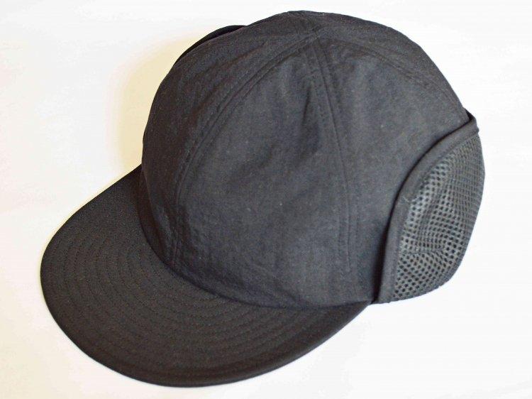 morno モーノ / NYLON FIELD CAP ナイロンフェィールドキャップ (BLACK ブラック)