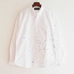 Nasngwam. ナスングワム  / SCATTER L/S SHIRTS ボタンダウンシャツ (WHITE ホワイト) <img class='new_mark_img2' src='https://img.shop-pro.jp/img/new/icons1.gif' style='border:none;display:inline;margin:0px;padding:0px;width:auto;' />