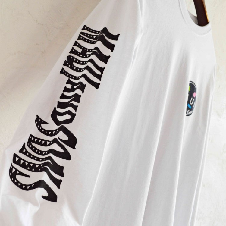 MAUI and Sons マウイ&サンズ / Big Mouth Long sleeve Tee ロンTEE (WHITE ホワイト)