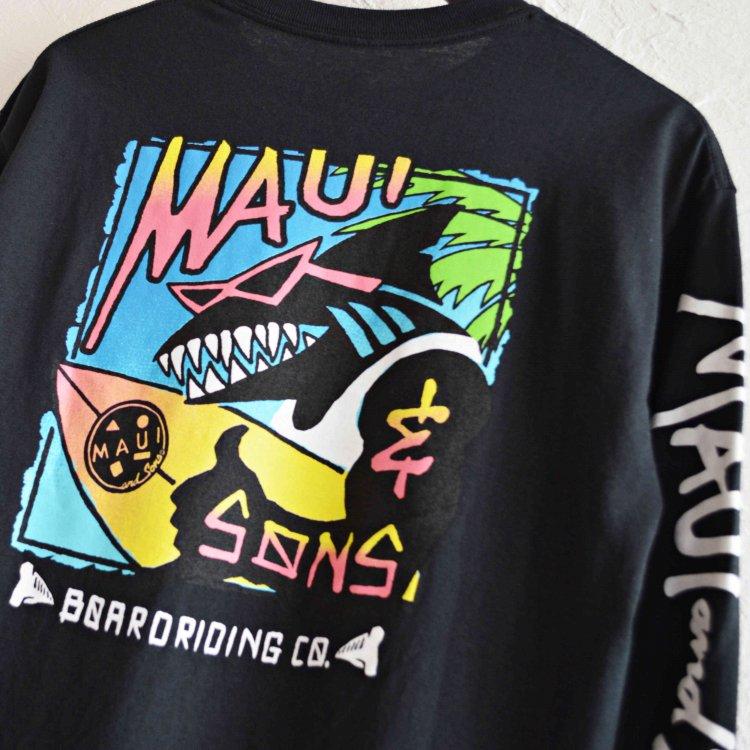 MAUI and Sons マウイ&サンズ / Shaka Sonz Long sleeve Tee ロンTEE (BLACK ブラック)
