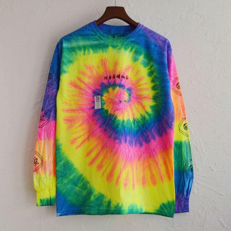 MODem DELi モデムデリ / Tie dye L/S TEE タイダイロンTEE (neon rainbow ネオンレインボー)