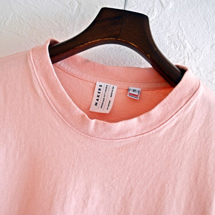 MAKERS メーカーズ / AMERICAN FIT T-SHIRTS アメリカンフィットTシャツ (LIGHT PINK ライトピンク)