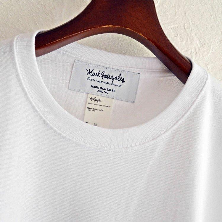 Mark Gonzales マークゴンザレス / Pocket Heavy Tee ポケットヘビーTシャツ (WHITE ホワイト)