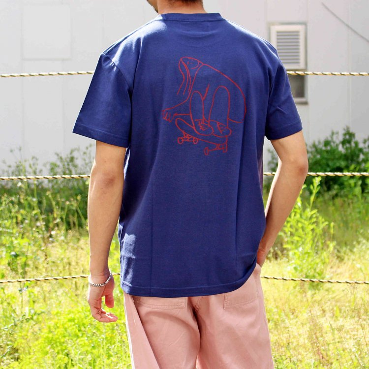 Mark Gonzales マークゴンザレス / Tee Tシャツ (INDIGO インディゴ)<img class='new_mark_img2' src='https://img.shop-pro.jp/img/new/icons1.gif' style='border:none;display:inline;margin:0px;padding:0px;width:auto;' />