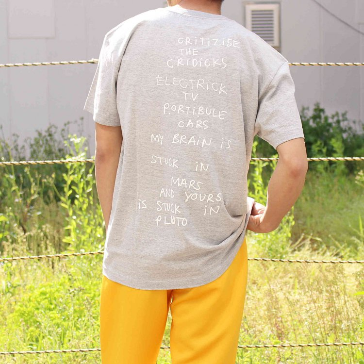 Mark Gonzales マークゴンザレス / Tee Tシャツ (GRAY グレー)<img class='new_mark_img2' src='https://img.shop-pro.jp/img/new/icons1.gif' style='border:none;display:inline;margin:0px;padding:0px;width:auto;' />