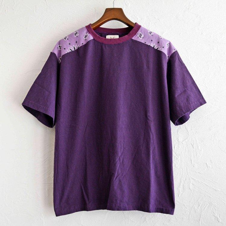 Nasngwam. ナスングワム / BANDANA TEE バンダナTシャツ (PURPLE パープル)