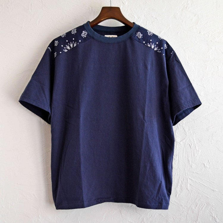 Nasngwam. ナスングワム / BANDANA TEE バンダナTシャツ (NAVY ネイビー)