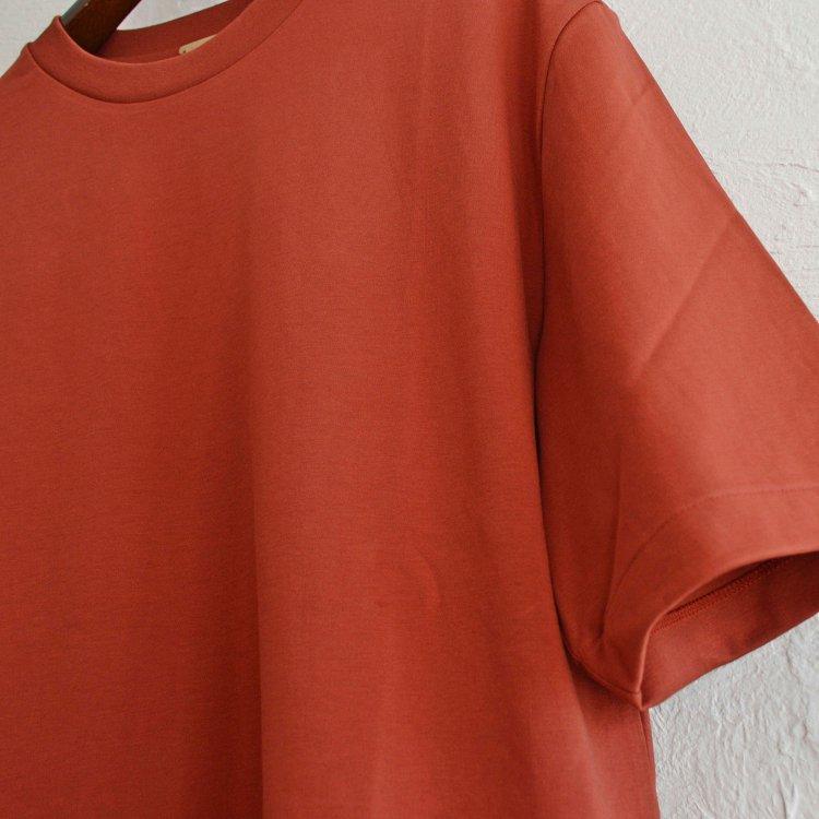 LAMOND ラモンド/ SUVIN COTTON 5分袖 T-shirt スビンコットンTシャツ (BORDEAUX ボルドー)<img class='new_mark_img2' src='https://img.shop-pro.jp/img/new/icons1.gif' style='border:none;display:inline;margin:0px;padding:0px;width:auto;' />