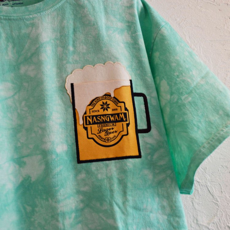 Nasngwam. ナスングワム / HAPPY BEER ハッピービールTシャツ (GREEN グリーン)<img class='new_mark_img2' src='https://img.shop-pro.jp/img/new/icons1.gif' style='border:none;display:inline;margin:0px;padding:0px;width:auto;' />