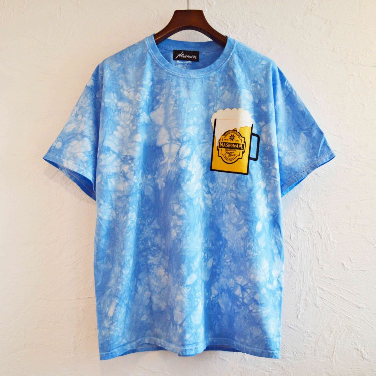 Nasngwam. ナスングワム / HAPPY BEER ハッピービールTシャツ (BLUE ブルー)