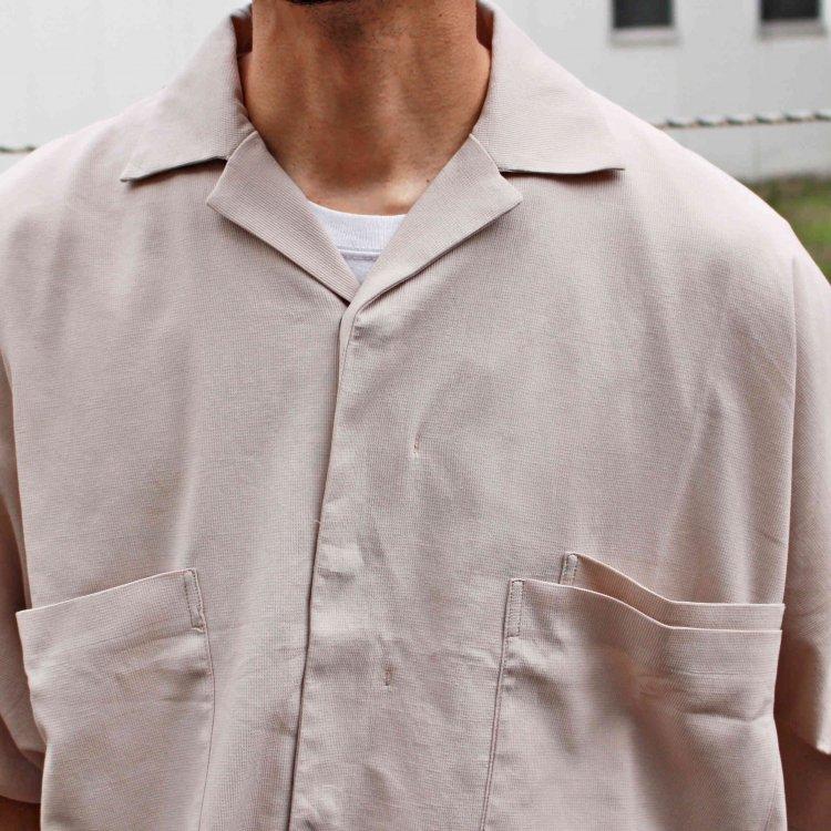 BASISBROEK バージスブルック / ETU 半袖シャツ (STONE ストーン)