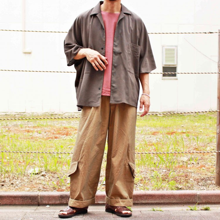 BASISBROEK バージスブルック / ETU 半袖シャツ (MOCHA モカ)