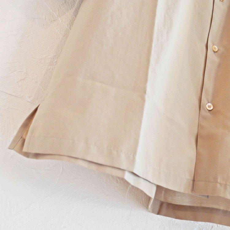 LAMOND ラモンド /  WIDE SHIRTS ワイドシャツ (GRAY BEIGE グレーベージュ)