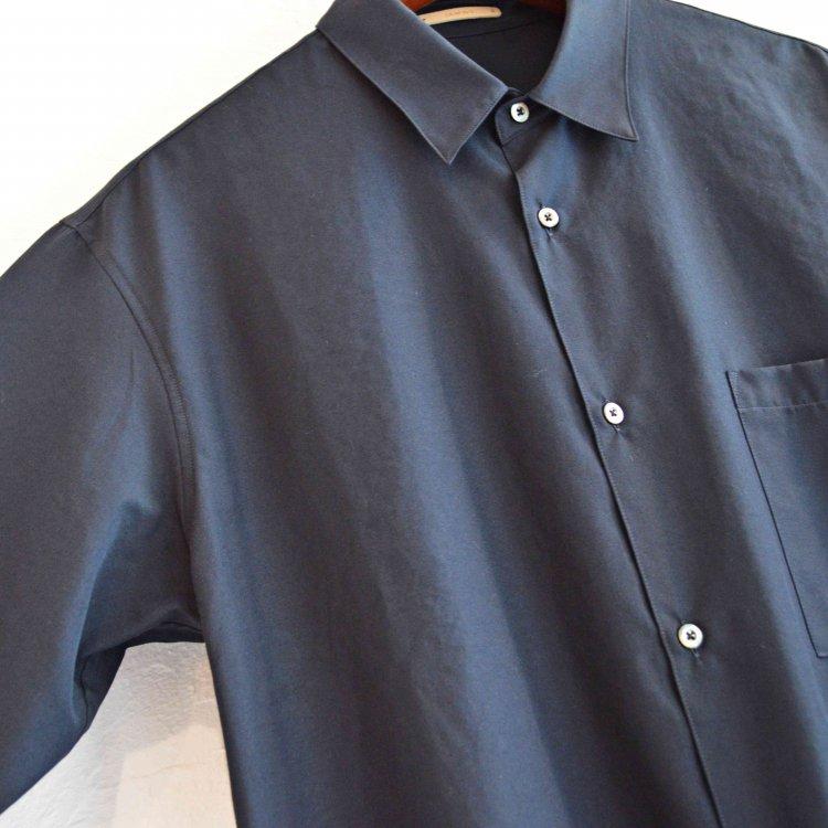 LAMOND ラモンド /  WIDE SHIRTS ワイドシャツ (NAVY ネイビー)