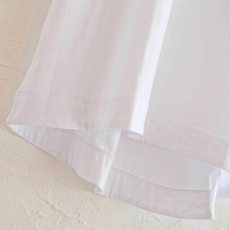 FLAMAND フラマン / BOXY LAX  カットソー Tシャツ (BLANK ブランク ホワイト)