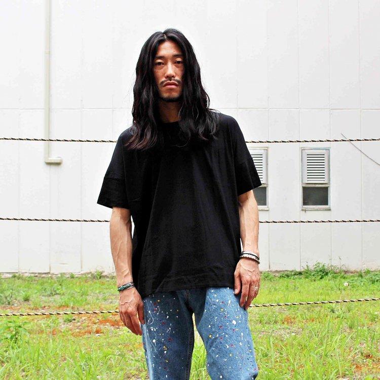FLAMAND フラマン / BOXY LAX  カットソー Tシャツ (NOIR ノワール ブラック)