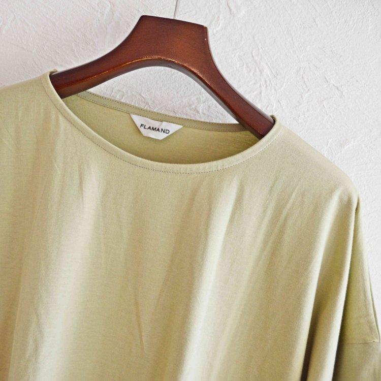 FLAMAND フラマン / BOXY LAX  カットソー Tシャツ (PISTACHIO ピスタチオ)