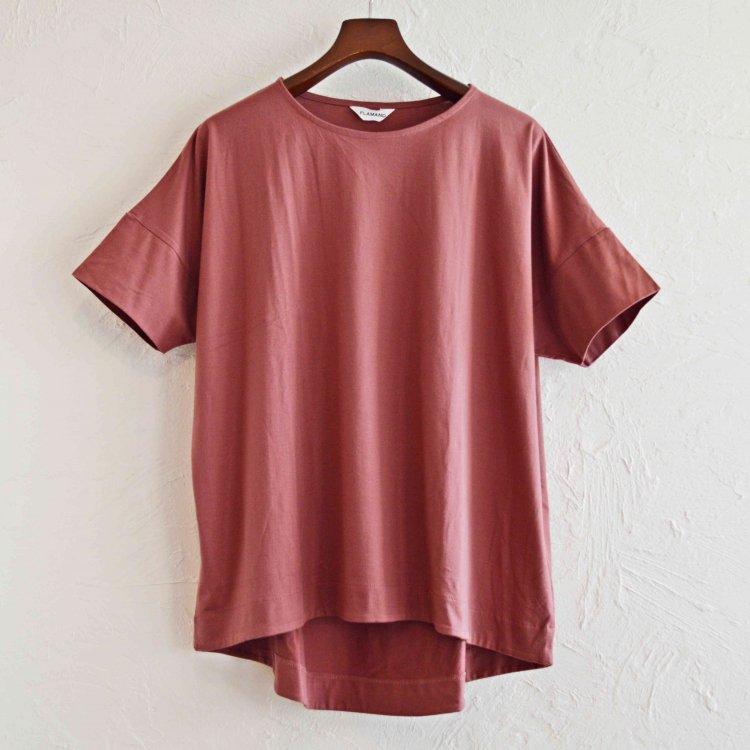 FLAMAND フラマン / BOXY LAX  カットソー Tシャツ (ALMOND アーモンド)