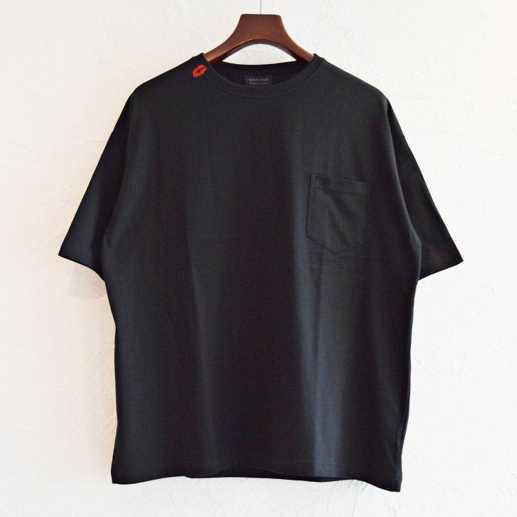 modemdesign モデムデザイン / Kiss Mark BIG S/S TEE ビックシルエットTシャツ (BLACK ブラック)