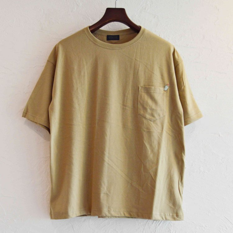 modemdesign モデムデザイン / CREAN SODA BIG S/S TEE ビックシルエットTシャツ (SAND サンド)