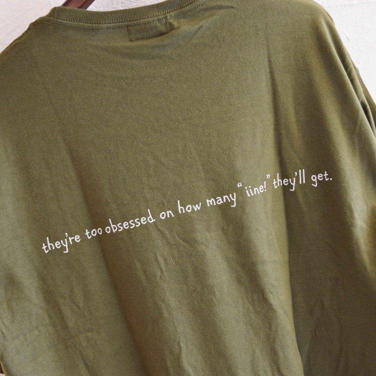 modemdesign モデムデザイン / CREAN SODA BIG S/S TEE ビックシルエットTシャツ (KHAKI カーキ)