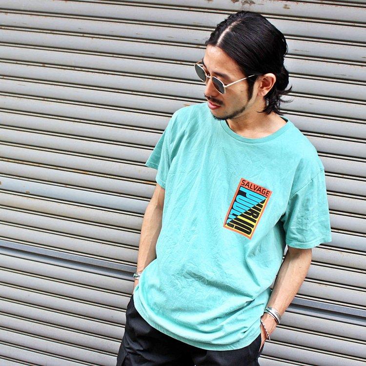 SALVAGE PUBLIC サルベージパブリック / CUT BACK Tシャツ (EMERALD エメラルド)