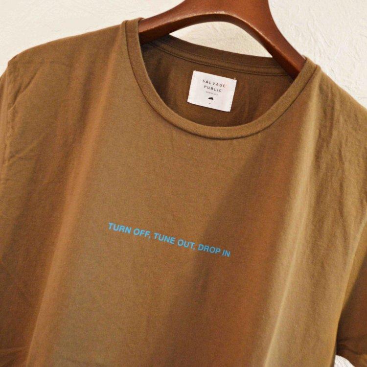 SALVAGE PUBLIC サルベージパブリック / DROP IN Tシャツ (FADE BROWN フェードブラウン)