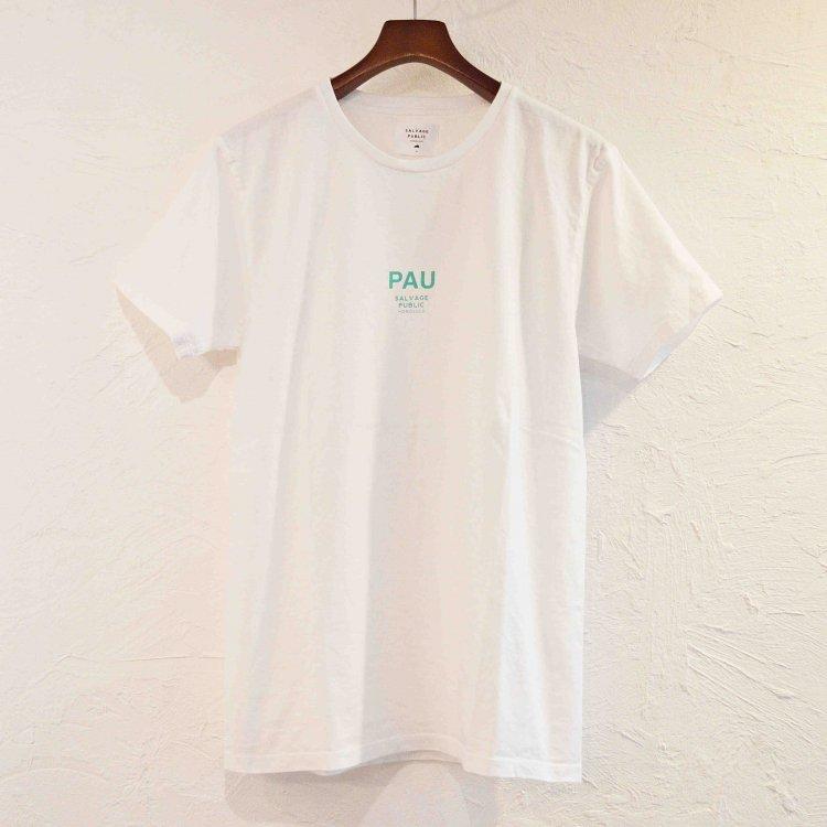 SALVAGE PUBLIC サルベージパブリック / PAU Tシャツ (WHITE ホワイト)